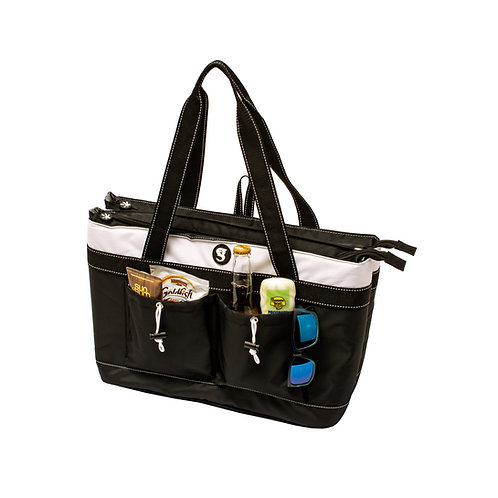 2 Compartment Tote Cooler - White