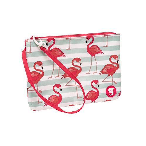 Swim / Small Utility Bags - Flamingo Stripe