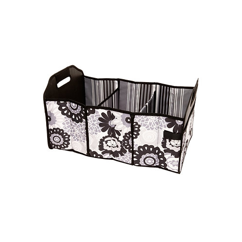 Shopping Cart & Trunk Organizer Tote - Black/White Floral