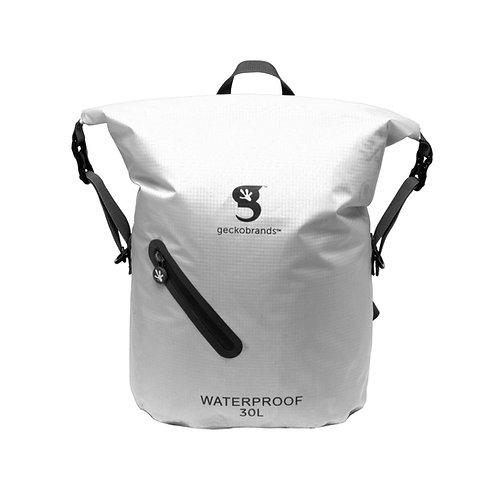 Lightweight 30L Waterproof Backpack - White/Black