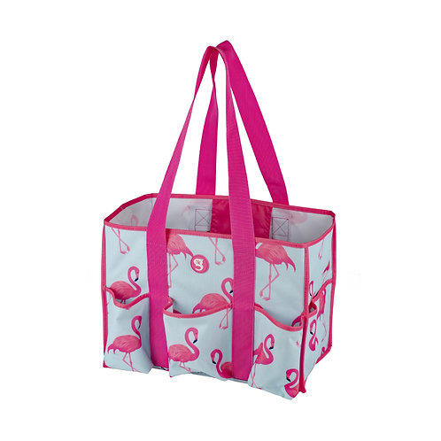 8 Pocket Tote - Flamingo