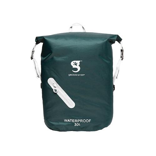 Lightweight 30L Waterproof Backpack - Hunter Green/White