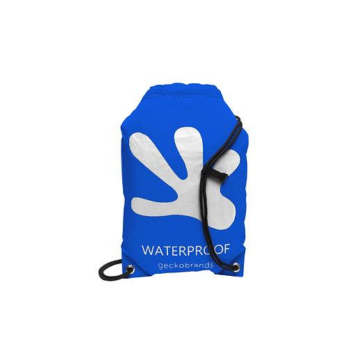 Drawstring Waterproof Backpack - Royal Blue/White