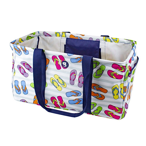 Large Utility Tote - Flip Flop Toss