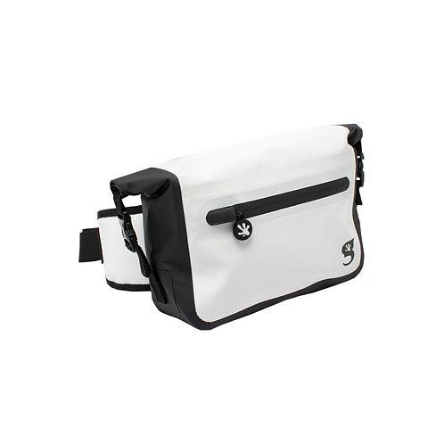 Waterproof Tarpaulin Dry Bag Waist Pouch - White/Black