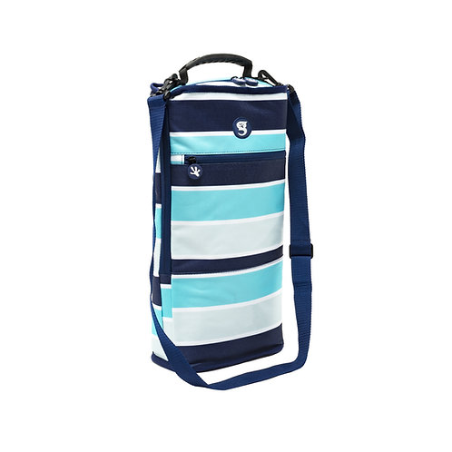 Verticool Cooler - Blue/Grey Wide Stripe - Fits up to 9 cans
