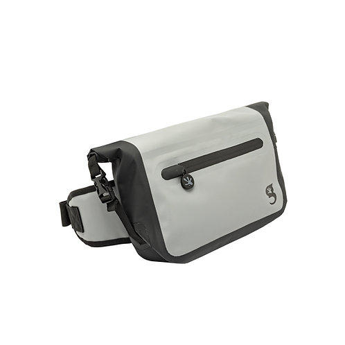 Waterproof Tarpaulin Dry Bag Waist Pouch - Grey/Black