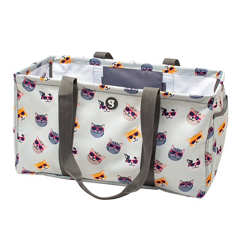 Large Utility Tote - Summer Cats