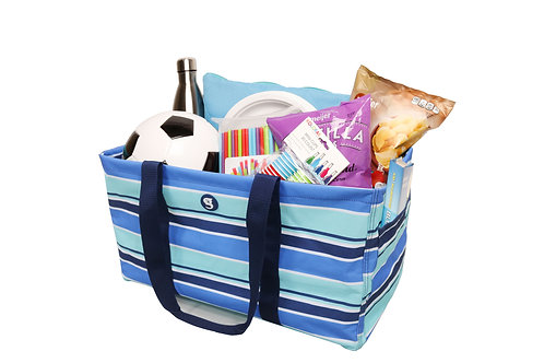 Large Utility Tote - Blue Stripe