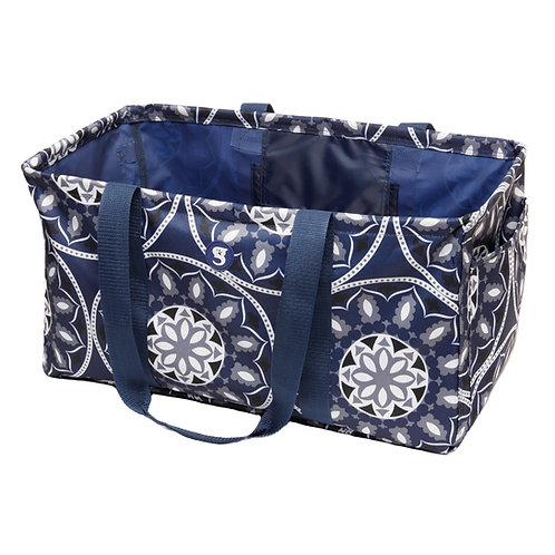 Large Utility Tote - Blue Medallion