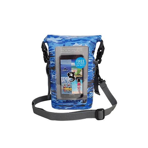 Waterproof Phone Tote - Ocean geckoflage