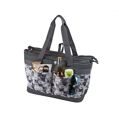 2 Compartment Tote Cooler - Cats