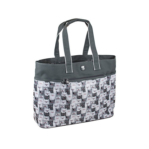 Oversized Beach Tote - Cats