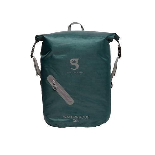 Lightweight 30L Waterproof Backpack - Hunter Green/Grey
