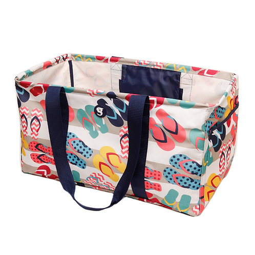 Large Utility Tote - Flip Flop Thick Stripe