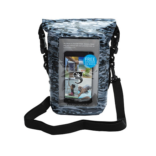 Waterproof Phone Tote - Artic geckoflage