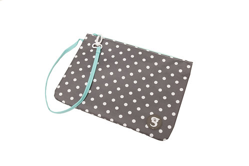 Swim Bag - Polka Dot - Grey/Blue