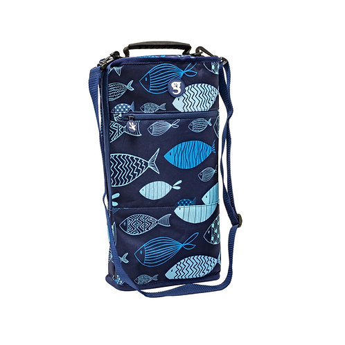 Verticool Cooler - Blue Fish - Fits up to 9 cans