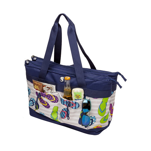 2 Compartment Tote Cooler - Flip Flop