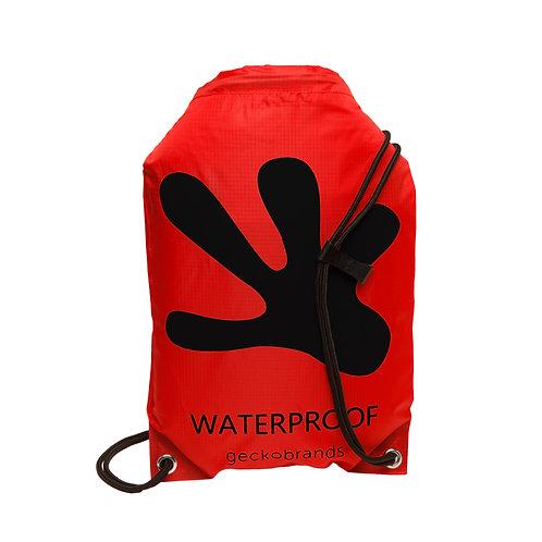 Drawstring Waterproof Backpack - Red/Black