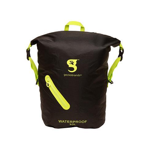 Lightweight 30L Waterproof Backpack - Black/Neon Green