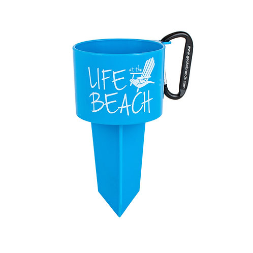 Beverage Holder Stake - LAB - Blue