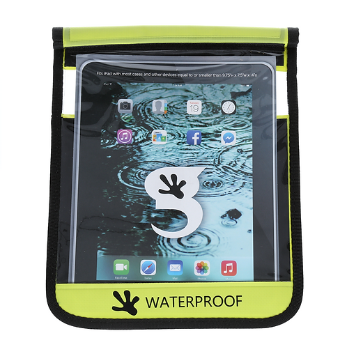 Waterproof iPad/Large Tablet Dry Bag - Green