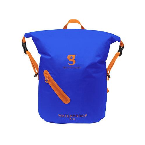 Lightweight 30L Waterproof Backpack - Royal Blue/Orange
