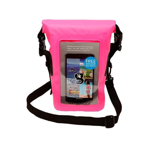 Waterproof Phone Tote - Neon Pink