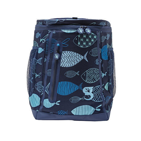 Opticool Backpack Cooler - Blue Fish