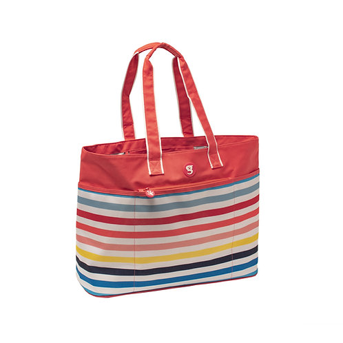 Oversized Beach Tote - Sunset Stripe
