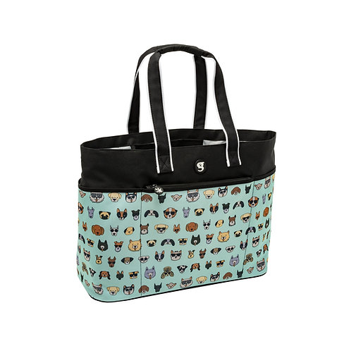 Oversized Beach Tote - Summer Dogs