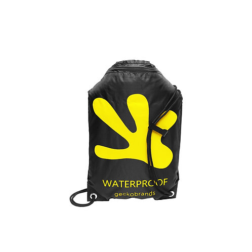 Drawstring Waterproof Backpack - Black/Yellow
