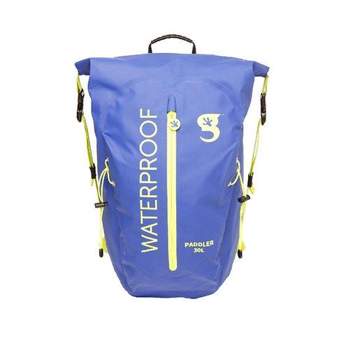 Paddler 30L Waterproof Backpack - Royal/Neon Green