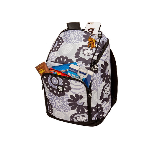 Backpack Cooler - Black/Grey Floral