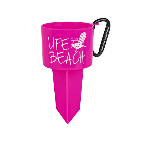 Beverage Holder Stake - LAB - Pink