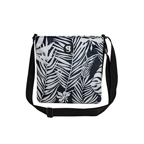 Crossbody Bag - Palms Black/White