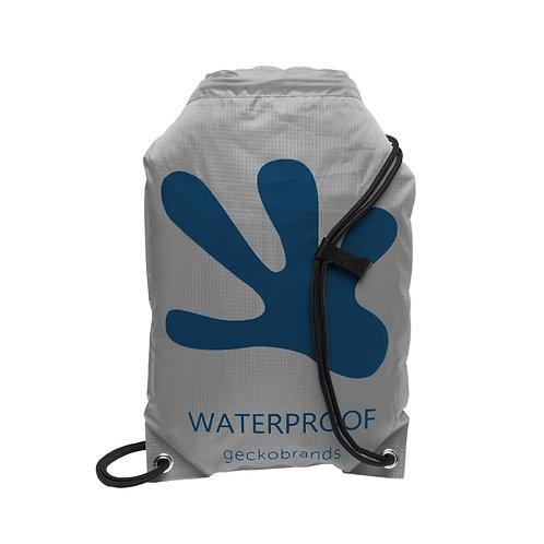 Drawstring Waterproof Backpack - Grey/Navy