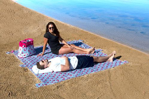 Lightweight Waterproof Blanket - Flamingo Stripe