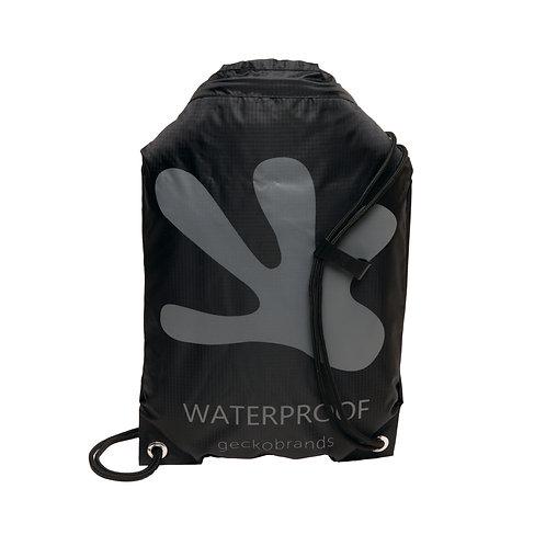 Drawstring Waterproof Backpack - Black/Grey