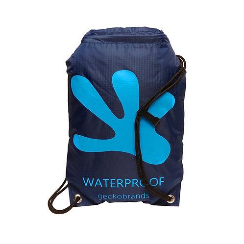 Drawstring Waterproof Backpack - Navy/Neon Blue