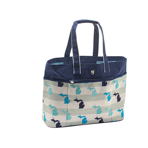 Oversized Beach Tote - MI Toss