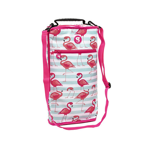 Verticool Cooler - Flamingo Stripe - Fits up to 9 cans