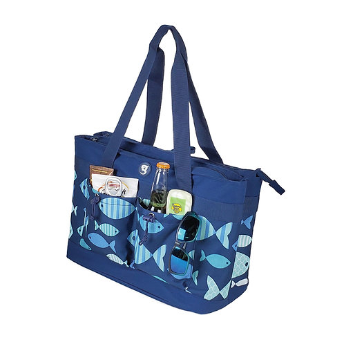 2 Compartment Tote Cooler - Fish