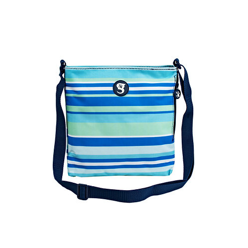 Crossbody Bag - Green/Blue Stripe