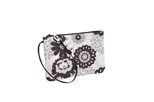 Swim Bag - Black/White Floral