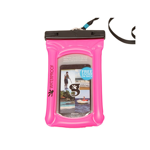 Float Phone Dry Bag - Neon Pink