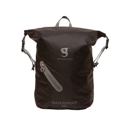 Lightweight 30L Waterproof Backpack - Black/Grey