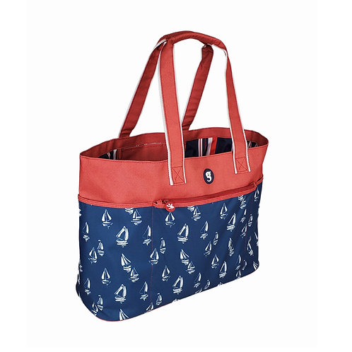 Oversized Beach Tote - Sailboat