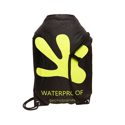 Drawstring Waterproof Backpack - Black/Neon Green
